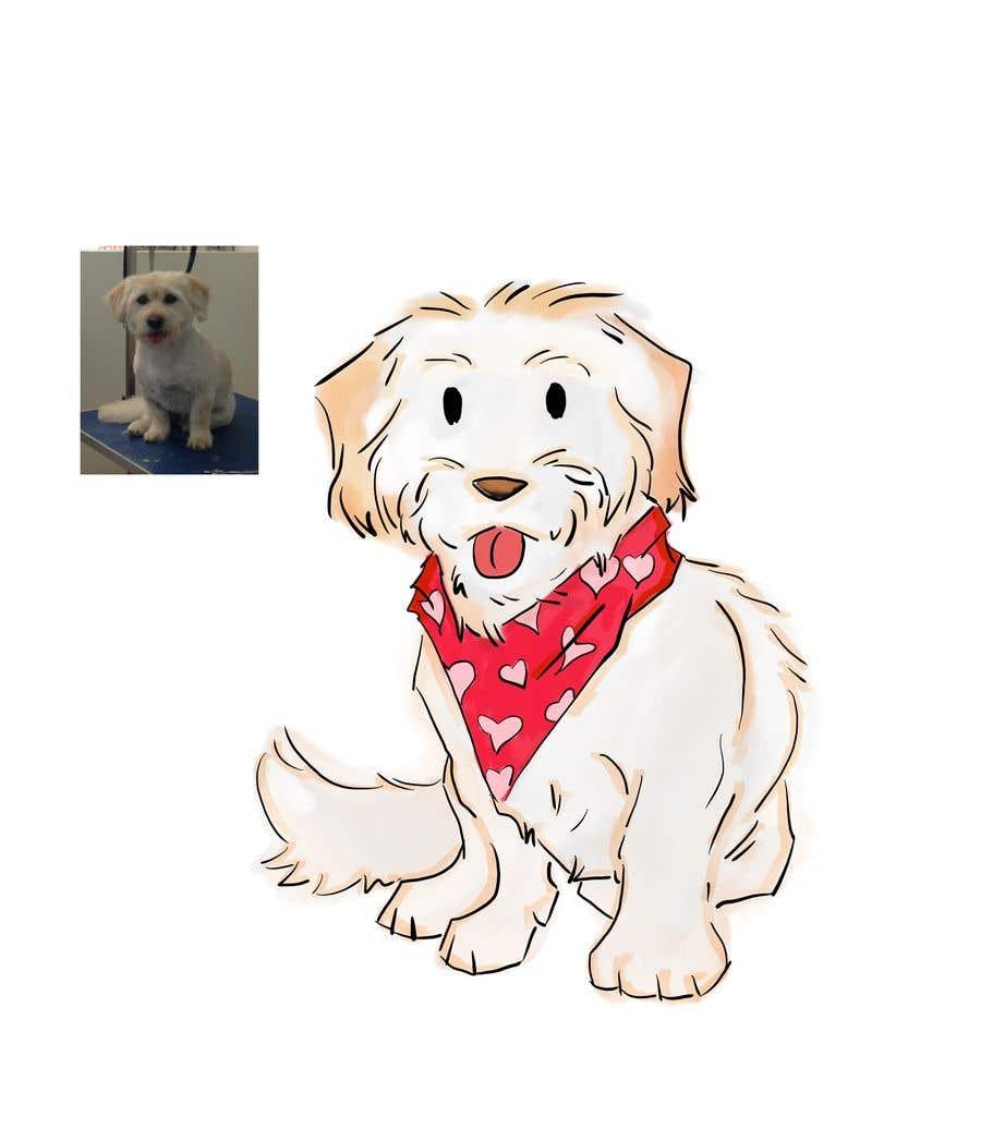 Penyertaan Peraduan #                                        23                                      untuk                                         Create an image for BlossyB - a dog drawing/illustration for my pet bandana business