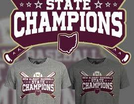 #222 untuk New Albany Ohio Baseball State Champs Tee Shirt Design oleh Maxbah