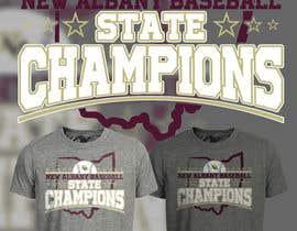 #234 untuk New Albany Ohio Baseball State Champs Tee Shirt Design oleh Maxbah