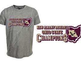 #169 untuk New Albany Ohio Baseball State Champs Tee Shirt Design oleh ferdousisultana2