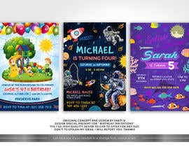 #43 для Create 3 birthday invitations for a birthday party от SAKTI2