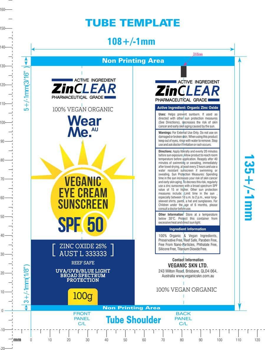 Kilpailutyö #                                        59                                      kilpailussa                                         Design a Sunscreen Tube Packaging!