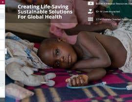 zehclaudio tarafından WordPress photo/home page info layout assistance (for global aid organization) için no 1