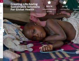 zehclaudio tarafından WordPress photo/home page info layout assistance (for global aid organization) için no 2