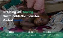 WordPress photo/home page info layout assistance (for global aid organization) için Website Design22 No.lu Yarışma Girdisi