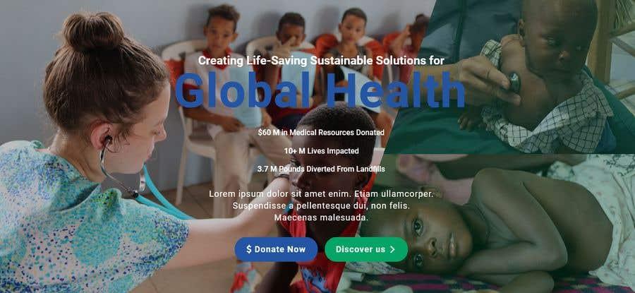 Penyertaan Peraduan #                                        14                                      untuk                                         WordPress photo/home page info layout assistance (for global aid organization)
