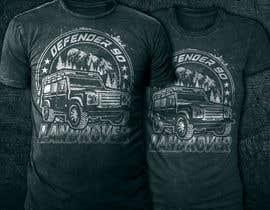 #211 untuk T-Shirt Land Rover Defender 90 design oleh mstmurshida