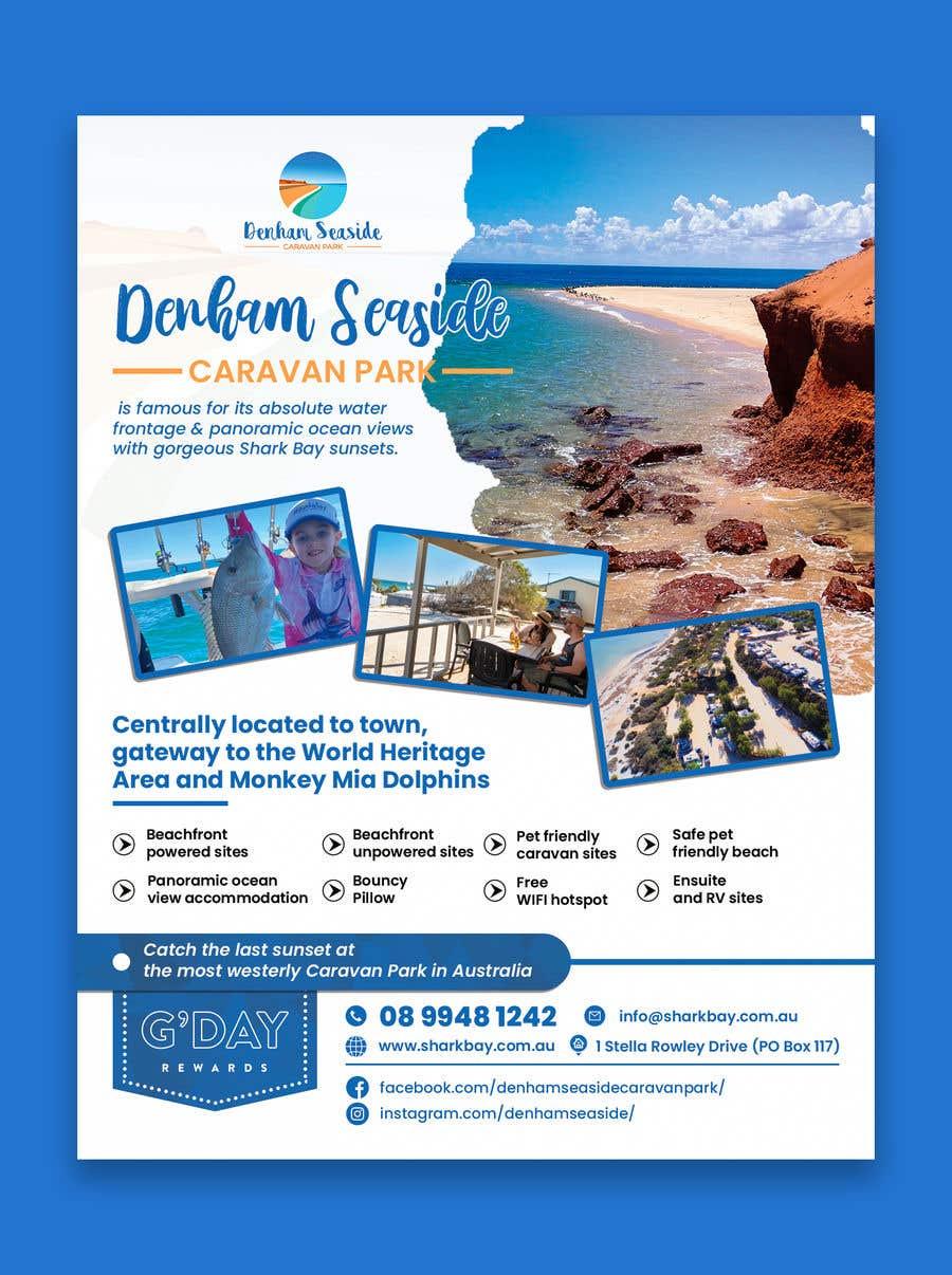 Bài tham dự cuộc thi #                                        13                                      cho                                         Design a Magazine Advertisement for Denham Seaside Caravan Park - 16/06/2021 02:48 EDT