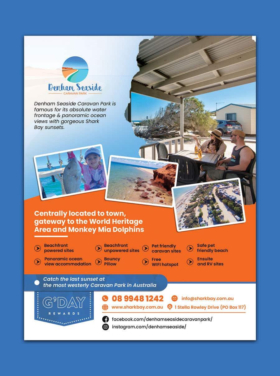 Bài tham dự cuộc thi #                                        22                                      cho                                         Design a Magazine Advertisement for Denham Seaside Caravan Park - 16/06/2021 02:48 EDT