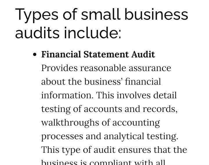 Bài tham dự cuộc thi #                                        6                                      cho                                         Audit my small business