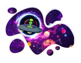 Nro 113 kilpailuun Beautiful cartoon outer space theme illustration designed for Children helmets käyttäjältä Karthikeyan1411