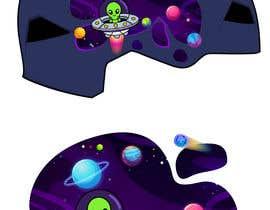 Nro 115 kilpailuun Beautiful cartoon outer space theme illustration designed for Children helmets käyttäjältä sandeeptwc3