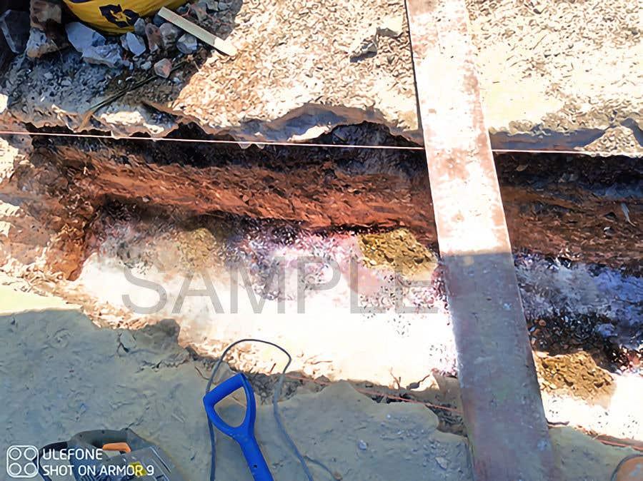 Kilpailutyö #                                        3                                      kilpailussa                                         chalk at base of dug footings