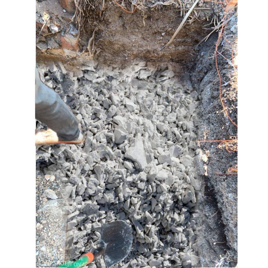 Kilpailutyö #                                        5                                      kilpailussa                                         chalk at base of dug footings