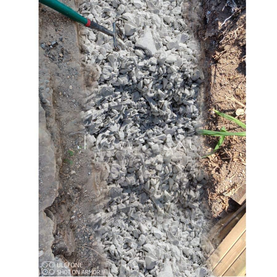 Kilpailutyö #                                        6                                      kilpailussa                                         chalk at base of dug footings