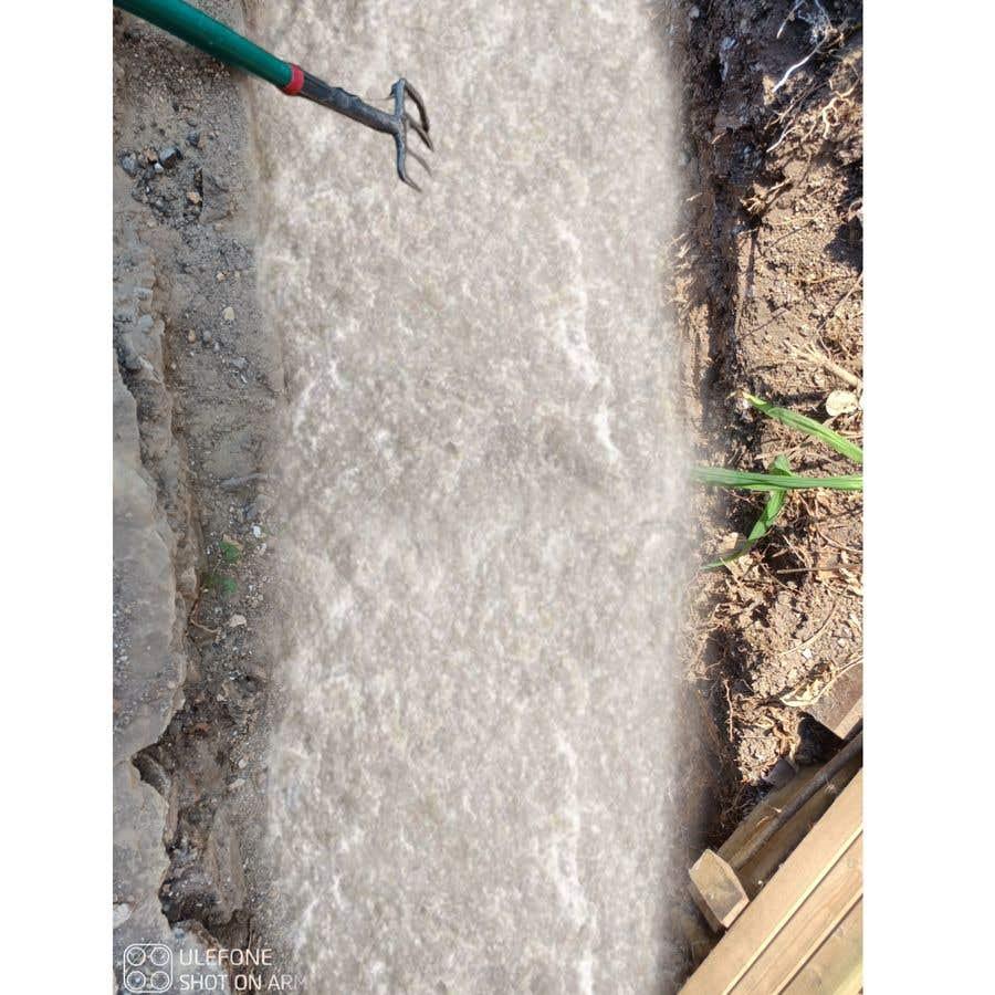 Kilpailutyö #                                        9                                      kilpailussa                                         chalk at base of dug footings