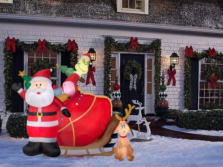Contest Entry #                                        27                                      for                                         Blow Up Inflatable Outdoor Christmas Santa Claus and the Grinch