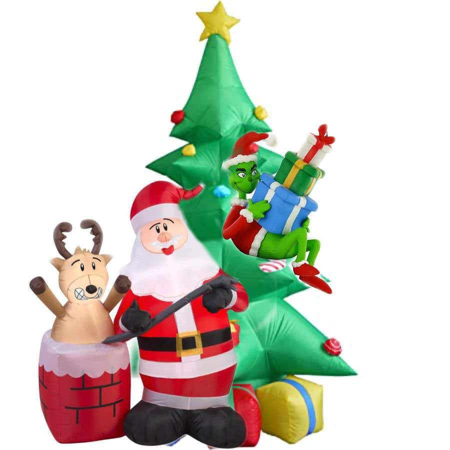 Contest Entry #                                        35                                      for                                         Blow Up Inflatable Outdoor Christmas Santa Claus and the Grinch