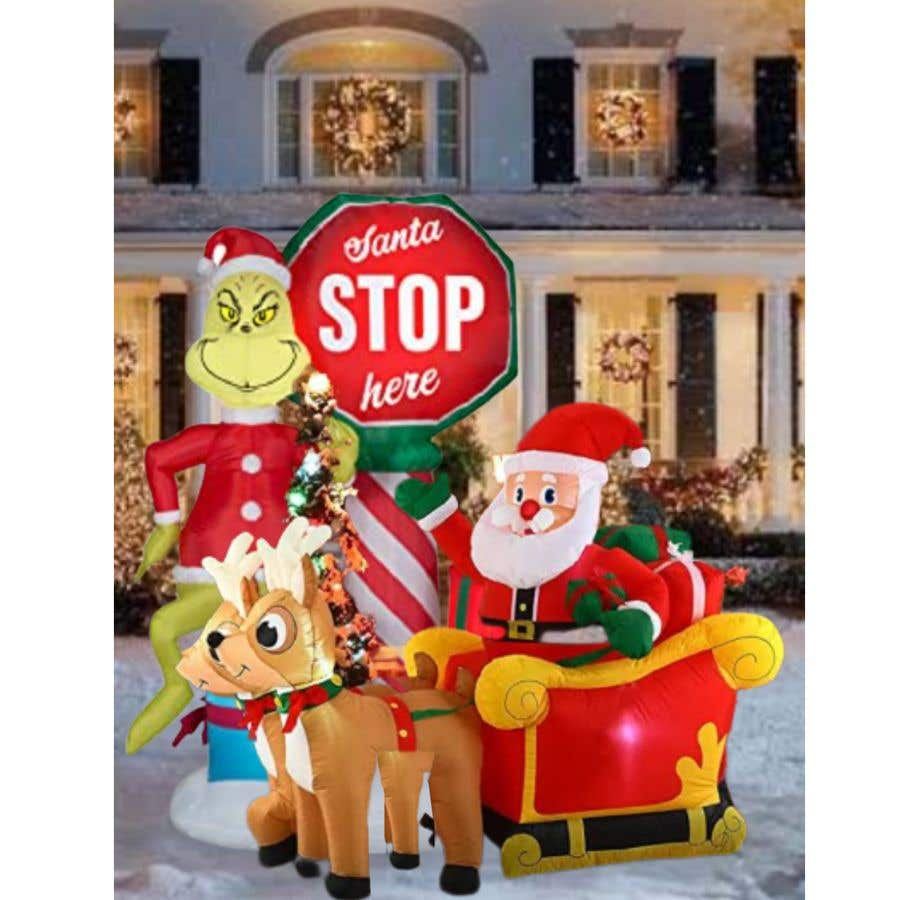 Bài tham dự cuộc thi #                                        14                                      cho                                         Blow Up Inflatable Outdoor Christmas Santa Claus and the Grinch