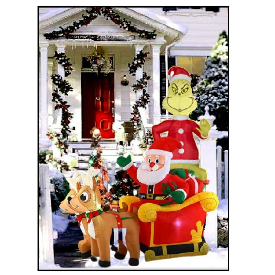 Bài tham dự cuộc thi #                                        24                                      cho                                         Blow Up Inflatable Outdoor Christmas Santa Claus and the Grinch