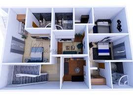 Nro 27 kilpailuun 3D design - floor plan käyttäjältä manvendrajangwa3