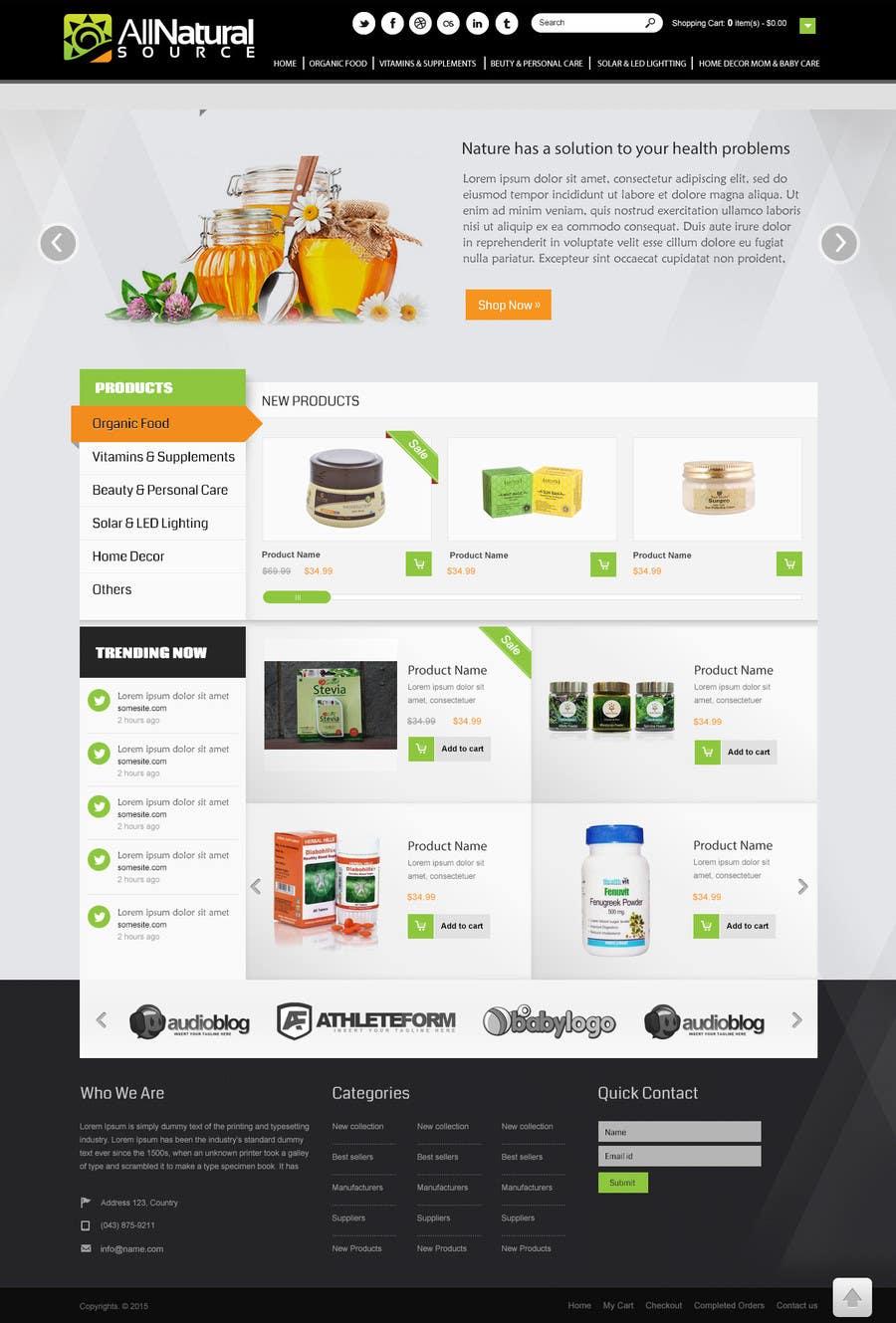 Proposition n°                                        26                                      du concours                                         Design a Website Mockup for Natural Products E-Commerce Site
