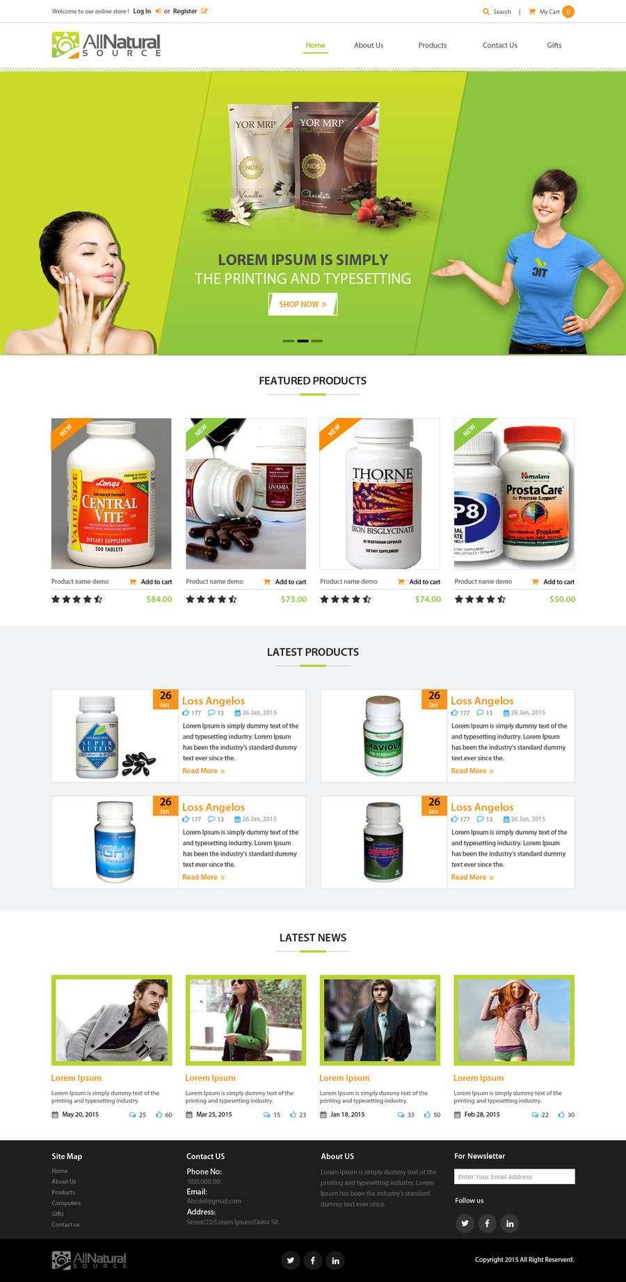 Contest Entry #                                        24                                      for                                         Design a Website Mockup for Natural Products E-Commerce Site