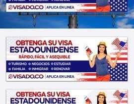 #252 untuk Billboards for USA Travel Visa Business oleh Julfikarsohan