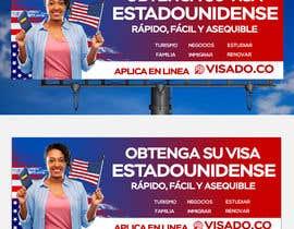 #255 untuk Billboards for USA Travel Visa Business oleh Julfikarsohan