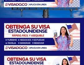 #256 untuk Billboards for USA Travel Visa Business oleh Julfikarsohan