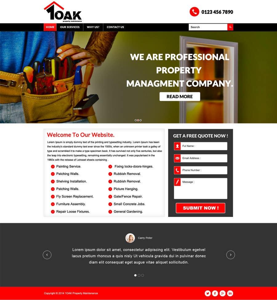 Contest Entry #                                        3                                      for                                         Build a Website for 1oak property maintenance