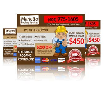 #8 for Design a Banner for Marietta Roofing Services af goranjokanovic