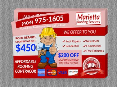 #10 for Design a Banner for Marietta Roofing Services af goranjokanovic