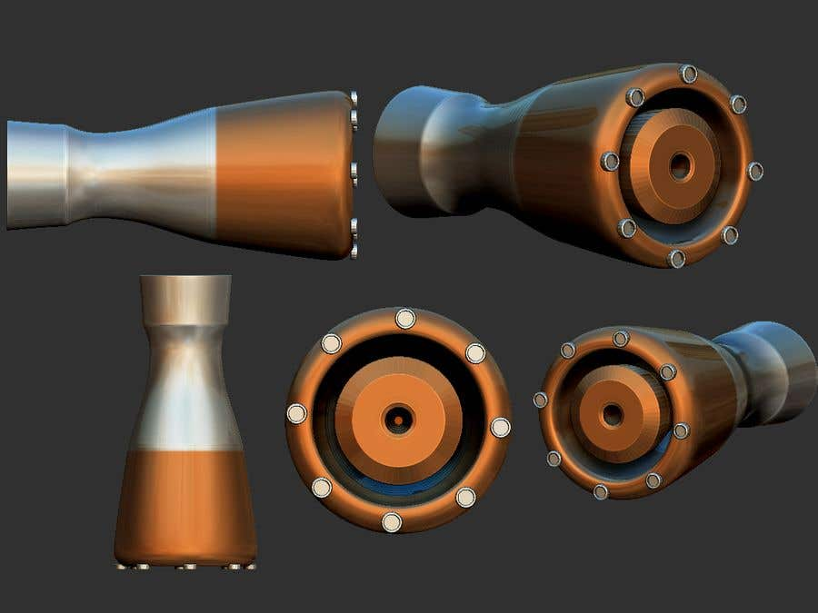 Konkurrenceindlæg #                                        4                                      for                                         Illustration of an Future product - Rocket Engine Prototype Simulation for pitch deck