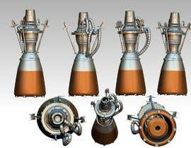 #11 for Illustration of an Future product - Rocket Engine Prototype Simulation for pitch deck af publishinggurus