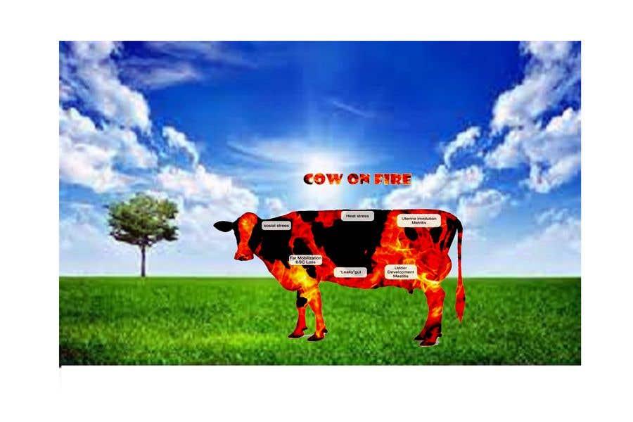 Kilpailutyö #                                        13                                      kilpailussa                                         Make me a Cow Fire Graphic