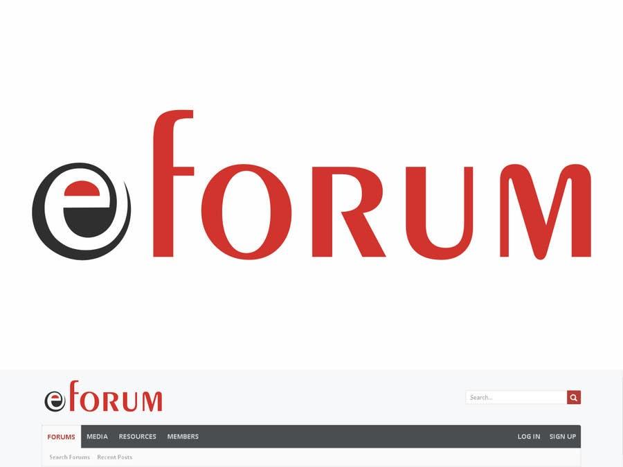 Penyertaan Peraduan #136 untuk eForum logo