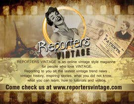 #11 untuk Design Business Cards and Advertisement for Reporters Vintage oleh bernadetteanillo