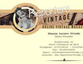 #30 untuk Design Business Cards and Advertisement for Reporters Vintage oleh jhoankhailerhia