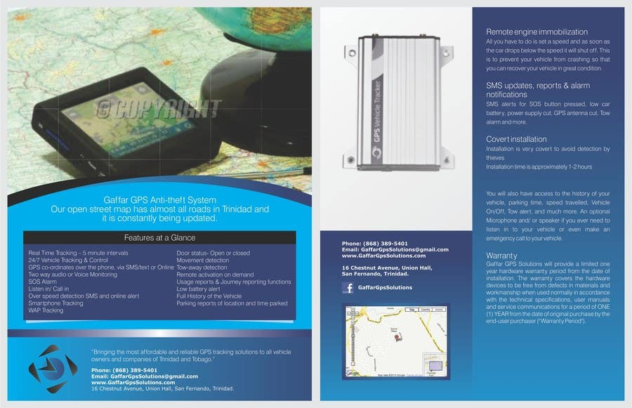 ca7d1df266b Entry  8 by barinix for Design a Brochure for a GPS Anti-theft ...