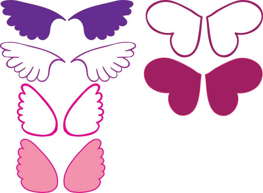 Bài tham dự cuộc thi #9 cho Design a pair of angel wings for baby clothing