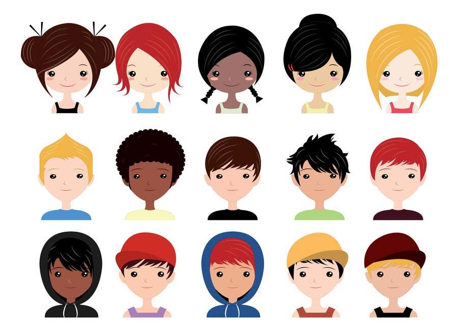Konkurrenceindlæg #                                        14                                      for                                         Design set of avatars for jokes/funny website