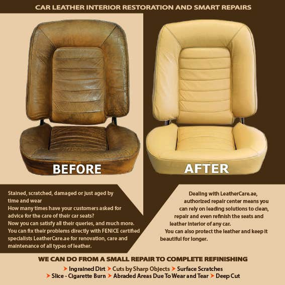 Proposition n°                                        18                                      du concours                                         Design a Flyer for Car Interior Leather Restoration and Fabric Cleaning