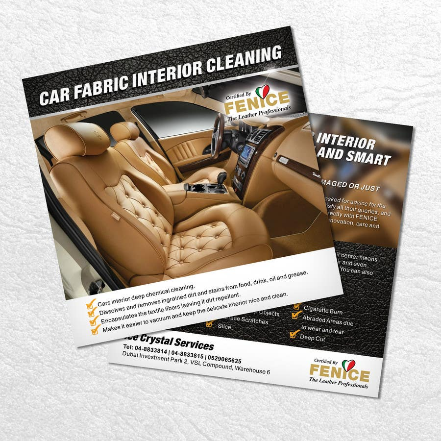 Bài tham dự cuộc thi #24 cho Design a Flyer for Car Interior Leather Restoration and Fabric Cleaning