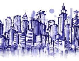 #15 for Design a hand drawn abstract skyline on white background af nonie26