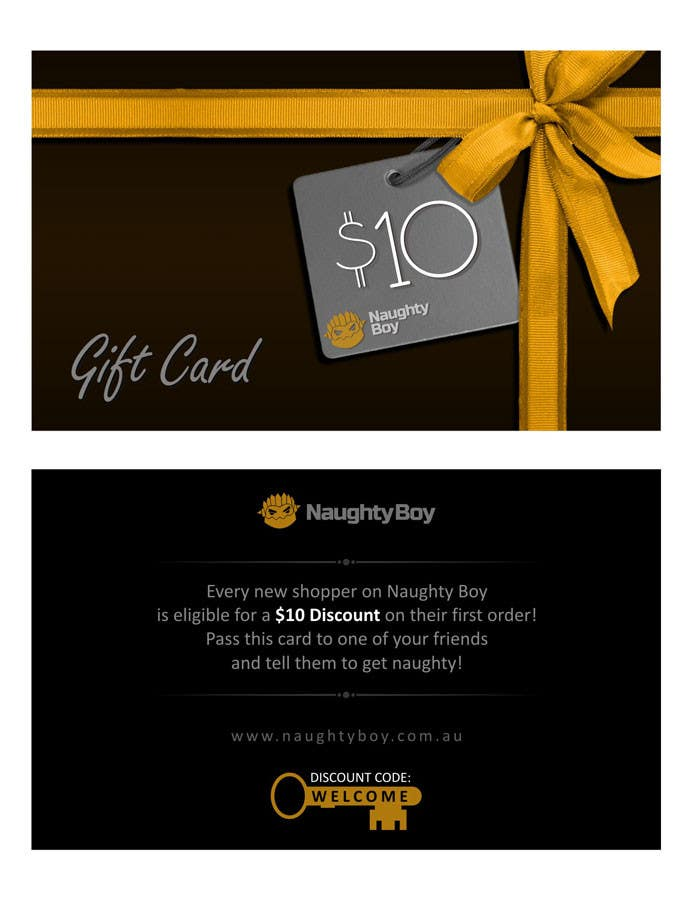 Bài tham dự cuộc thi #20 cho Design a $10 Gift Card for an Adult Store