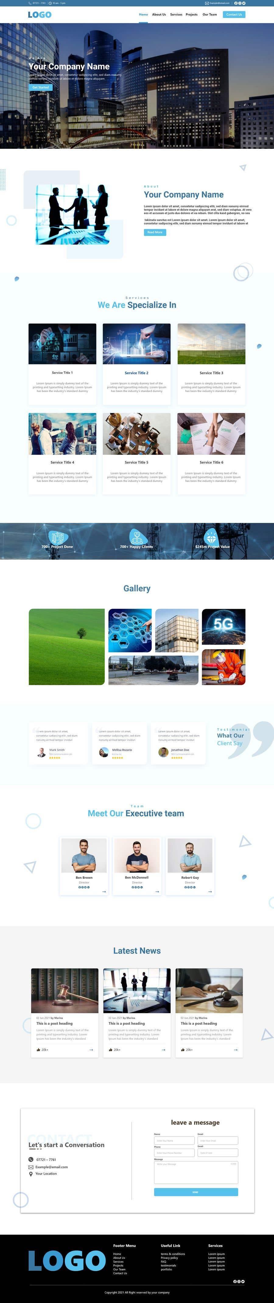 Proposition n°                                        82                                      du concours                                         Website Design for a company page