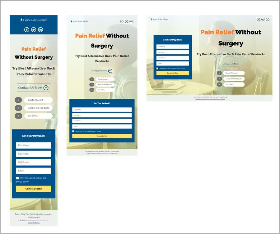 Proposition n°                                        35                                      du concours                                         Two Page Optin Page