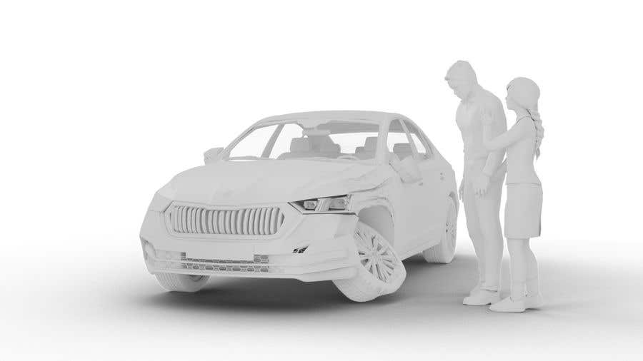 Proposition n°                                        13                                      du concours                                         3d white auto body damage