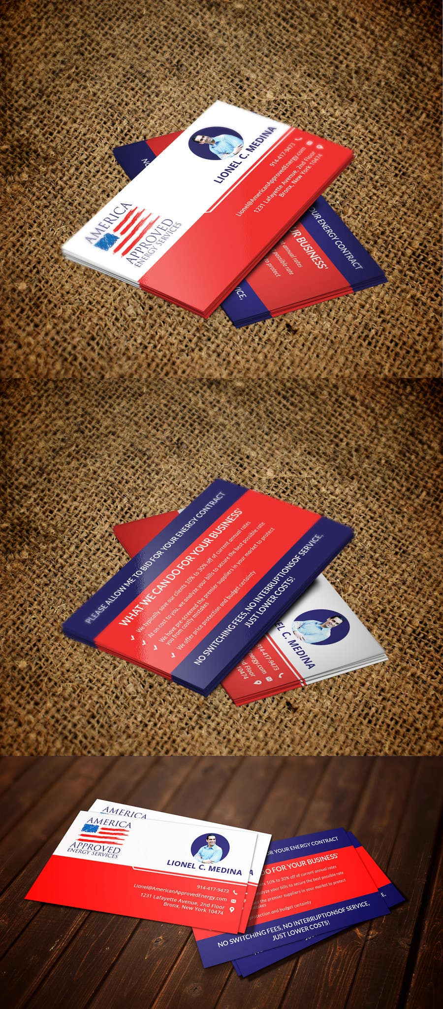 Kilpailutyö #6 kilpailussa Design some Business Cards for America Approved Commercial Energy